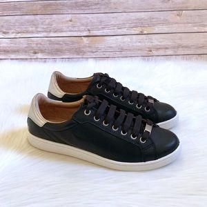 UGG Women's Milo Black Leather Sneakers